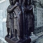 4 Tetrarchs beside entrance to Palazzo Ducale Venice Italy 19840728 0003  by Fred Mitchell