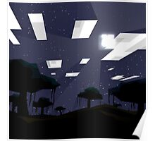 Minecraft Nightscape Poster