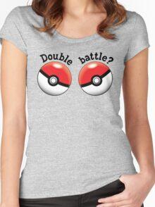 Double Battle Poké Ball Shirt Women's Fitted Scoop T-Shirt