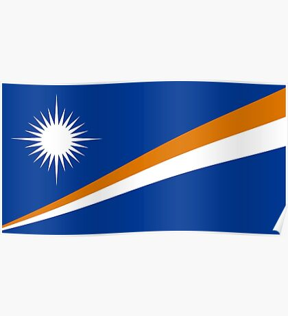 The Marshall Islands Flag Poster