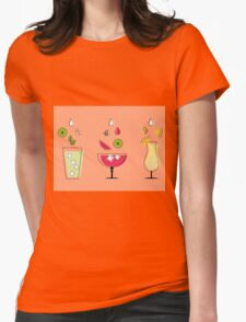 Summer Drinks! Womens Fitted T-Shirt