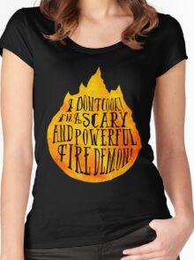 Fire Demon  Women's Fitted Scoop T-Shirt