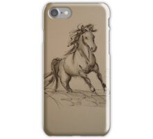 Wild - Horse ink wash watercolor painting iPhone Case/Skin