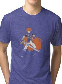 Pixel Silhouette: Marth Tri-blend T-Shirt