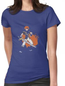 Pixel Silhouette: Marth Womens Fitted T-Shirt