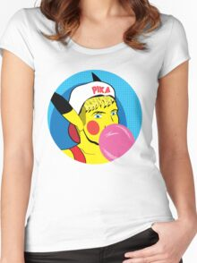 Pika Pop Art Women's Fitted Scoop T-Shirt