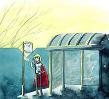 Average Heroes: The Bus Stop Waiter by illustrarticles
