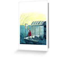 Average Heroes: The Bus Stop Waiter Greeting Card