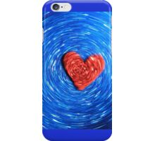 Loving Red on Blue - Color Background iPhone Case/Skin