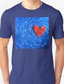 Loving Red on Blue - Color Background T-Shirt