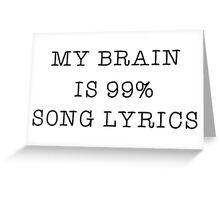 Music Song Lyrics Lover Popular Funny Text  Greeting Card