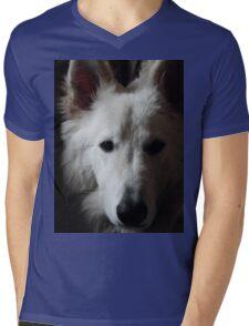 White German Shepherd Mens V-Neck T-Shirt