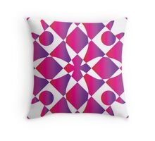 Positive and Negative Rose Throw Pillow
