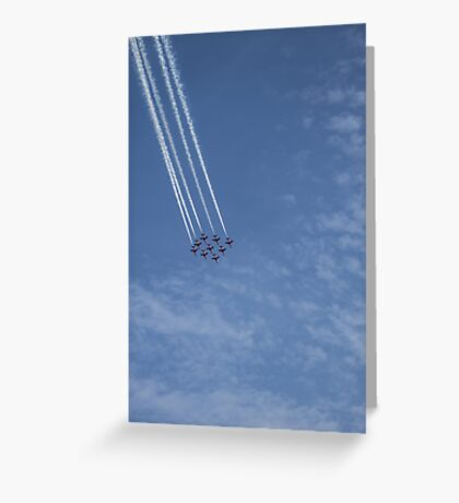 Red Arrows 2 Greeting Card