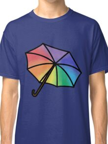 Rainbow Watercolor Umbrella Classic T-Shirt