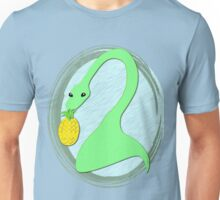 Nessie the Lochness Monster loves Pineapples on hot days. Unisex T-Shirt
