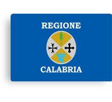 Calabria Flag Canvas Print