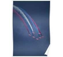 Red Arrows Coloured Smoke Poster