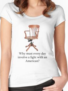 Dowager Countess: why must every day involve a fight with an American? Women's Fitted Scoop T-Shirt