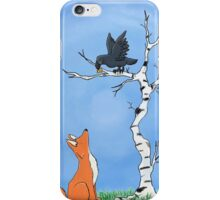 The fox and the crow iPhone Case/Skin