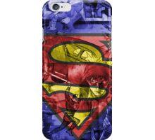 SuperMan Cover Art Double Exposure  iPhone Case/Skin