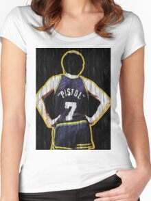 Pete Maravich - The Pistol  Women's Fitted Scoop T-Shirt