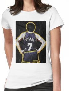 Pete Maravich - The Pistol  Womens Fitted T-Shirt