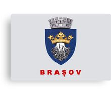 Brasov Flag Canvas Print