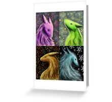 Four Seasons Dragons Greeting Card