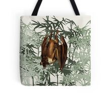 Flying Fox Bat in Bamboo Forest Tote Bag