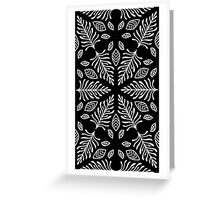 Geometric Fern pattern 1 in black and white Greeting Card