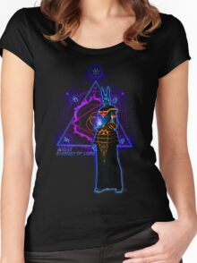☼ ☥  Anput, Guardian of Lore ☥ ☾  ~ (Anubis' Feminine Aspect) Women's Fitted Scoop T-Shirt