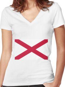 St. Patrick Flag Women's Fitted V-Neck T-Shirt