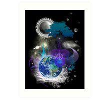 Cosmic geometric peace Art Print