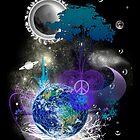 Cosmic geometric peace by Leah McNeir