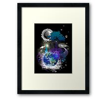 Cosmic geometric peace Framed Print