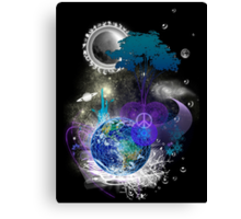 Cosmic geometric peace Canvas Print