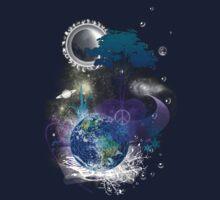 Cosmic geometric peace Kids Clothes