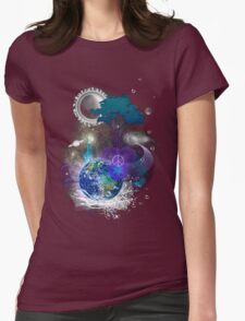 Cosmic geometric peace Womens Fitted T-Shirt