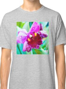 Close up shot on colorful Cattleya Orchids Classic T-Shirt