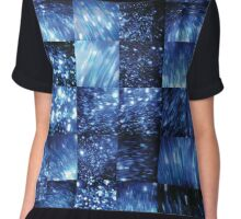 Blue Glitter - Video Stills Grid Chiffon Top