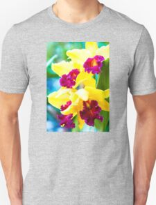 Close up shot on colorful Cattleya Orchids Unisex T-Shirt