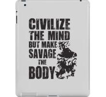 Make Savage The Body (Ripped Saiyan) iPad Case/Skin