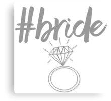 #bride Canvas Print