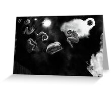 human asteroids Greeting Card