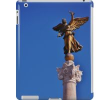 Golden angel, impeccable backdrop iPad Case/Skin
