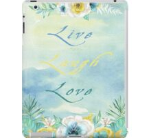 Live Laugh Love - Watercolour Art by Jordan Blackstone iPad Case/Skin