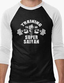 Training To Go Super Saiyan (Goku Squat) Men's Baseball ¾ T-Shirt