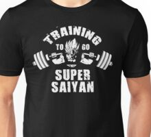 Training To Go Super Saiyan (Goku Squat) Unisex T-Shirt