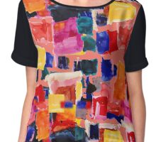 Layered squares by Crystal and Clare Chiffon Top